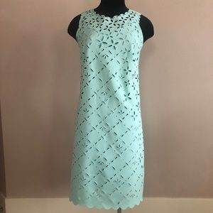 NWT J. Crew Mint Laser Cut Shift Dress